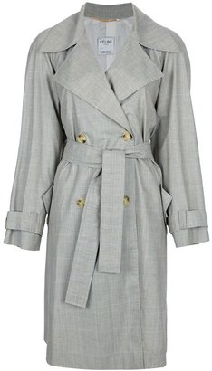 Celine Vintage checked trench coat