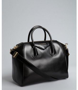 Givenchy black leather 'Antigona' crossbody satchel