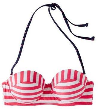 Xhilaration Junior's Push Up Swim Top -Pink Stripe