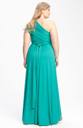 Monif C 'Marilyn' Convertible Jersey Gown (Plus)