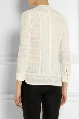 Isabel Marant Tess embroidered gauze top
