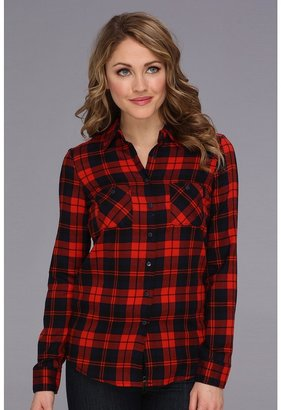 BCBGeneration Plaid Button-Up Shirt (Bright Red-Galaxy Combo) - Apparel