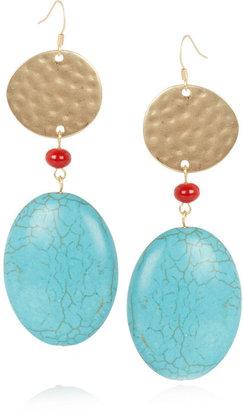 Kenneth Jay Lane Gold-tone resin earrings
