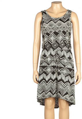 Full Tilt Ethnic Print Girls Hi Low Dress