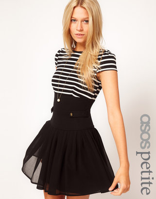 Asos Exclusive Dress With Stripe Top And Chiffon Skirt