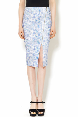 LUCY &CO Zipper Midi Skirt