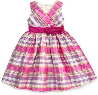Nannette Little Girls' Plaid Lurex Dress