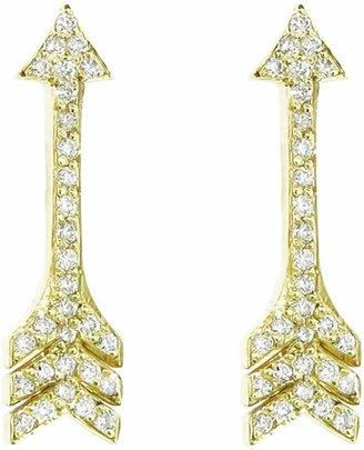 Jennifer Meyer Diamond Arrow Stud Earrings - Yellow Gold