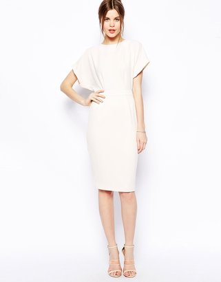 Asos Pencil Dress in Crepe with Open Back