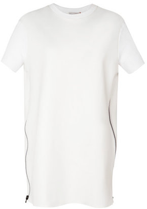Opening Ceremony Neoprene Knit Combo Tunic In White