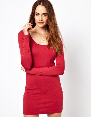 Vila Body Con Dress With Long Sleeve