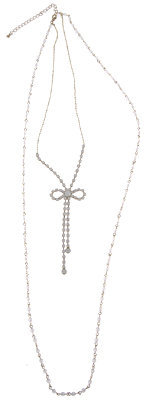 Forever 21 Beaded Bow Necklace