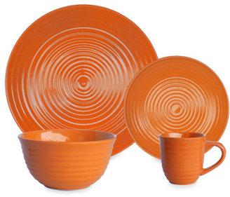 Bed Bath & Beyond Q Lifestyles Ridge Orange Dinnerware