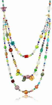 Antica Murrina Veneziana Brio - Triple-Strand Multicolor Murano Glass Bead Necklace