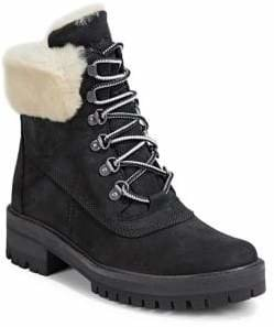 Timberland Faux Fur-Lined Leather Boots