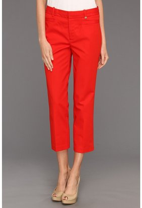 Calvin Klein Crop Skinny Pant (Tango Red) - Apparel