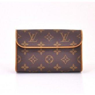 Louis Vuitton excellent (EX Brown Monogram Canvas Pochette Florentine Waist Pouch Bag
