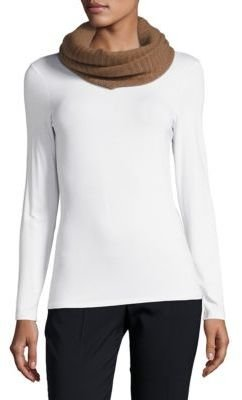 Ribbed Knit Cashmere Infinity Scarf $149 thestylecure.com
