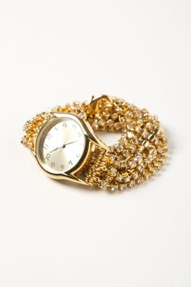 Anthropologie Sparkling Strands Wrap Watch