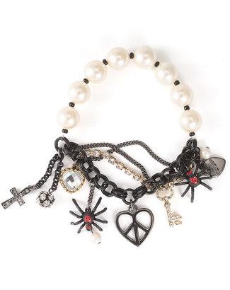 Betsey Johnson 'Vintage Vicky' Charm Stretch Bracelet