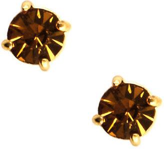 Anne Klein 12 Kt. Gold-Plated Crystal Stud Earrings