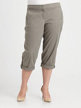Eileen Fisher Eileen Fisher, Salon Z Washed-Twill Capri Pants