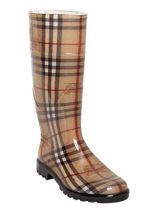 Burberry 20mm Haymarket Rubber Rain Boots