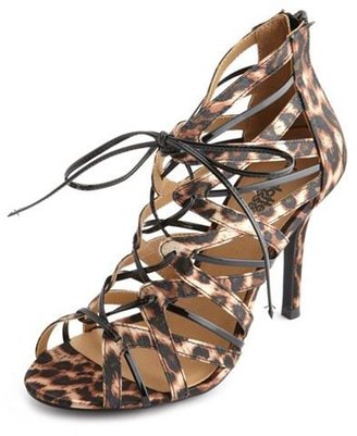 Charlotte Russe Lace-Up Ghillie Single Sole Heel