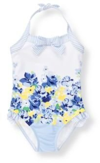 Janie and Jack Floral Striped Swimsuit