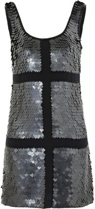 Rachel Gilbert Cleo paillette-embellished silk dress