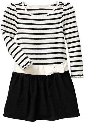 Gap Striped rib bow dress