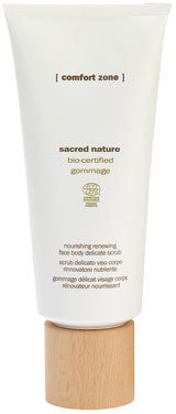 Comfort Zone sacred nature nourishing renewing face body delicate scrub