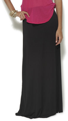 Wet Seal Solid Foldover Maxi Skirt