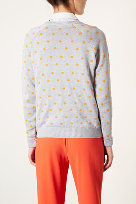 Topshop Knitted Panther Spot Jumper