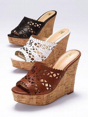 Victoria's Secret Collection Laser-cut Wedge Sandal