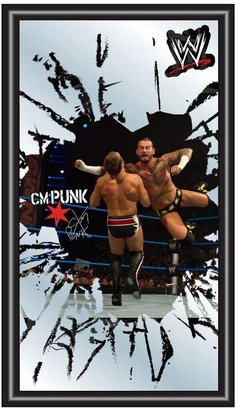 WWE Trademark CM Punk 15 in. x 26 in. Black Wood Framed Mirror