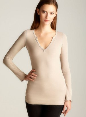 Fickle Thermal Henley, Light Brown