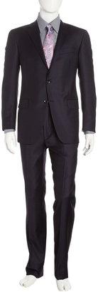 Hickey Freeman Two-Piece Slim-Cut Suit, Navy