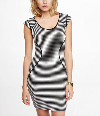 Express Striped Cap Sleeve Sheath Dress