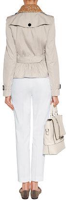 Jil Sander Navy White Stretch Cotton Pants