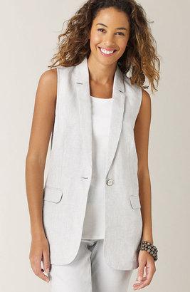 J. Jill Shimmer linen vest