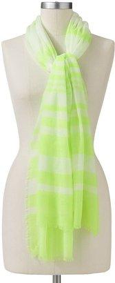Apt. 9 neon striped sheer scarf