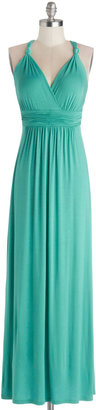 Green Your City Dress in Turquoise