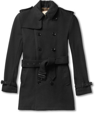 Burberry Double-Breasted Wool-Blend Trench Coat