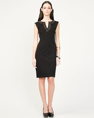Le Château Embellished Ponte Shift Dress