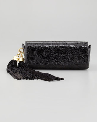 Z Spoke Zac Posen Claudette Tassel Clutch Bag, Black