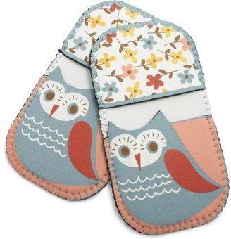 Sur La Table Spring Owl Mini Grip Pot Holders, Set of 2