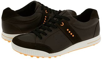 Ecco Street Premiere (Licorice/Coffee/Fanta) Men's Golf Shoes