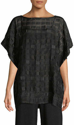 Eileen Fisher Silk Square Boatneck Top
