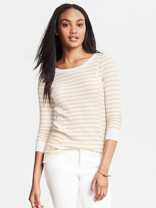 Banana Republic Textured Stripe Pullover
